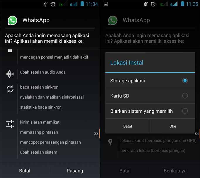 Install Aplikasi Android