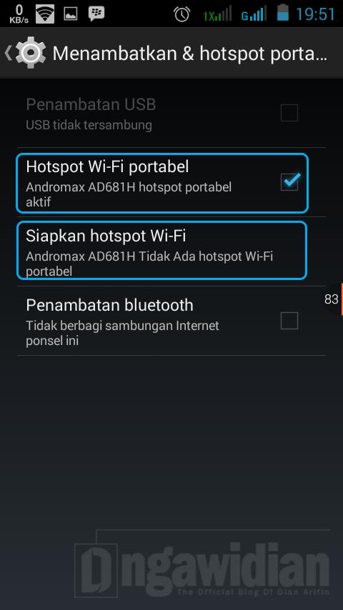 Cara Membuat WiFi di Android 2