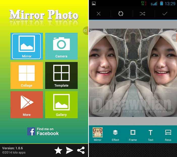 Cara Membuat Efek Cermin Pada Foto