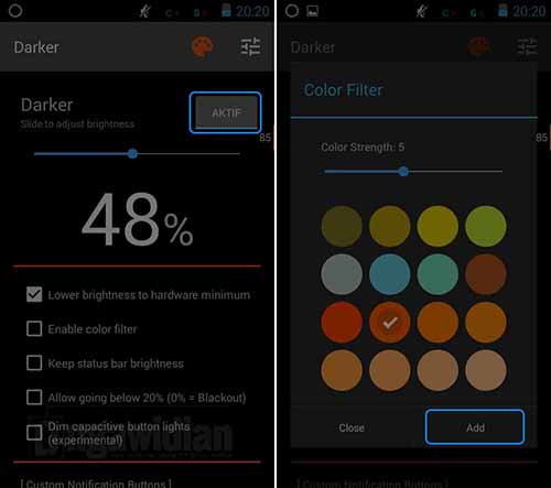 Cara Hemat Baterai Android Dengan Darker