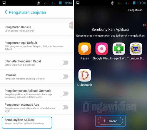 Menyembunyikan Aplikasi Dengan Hola Launcher