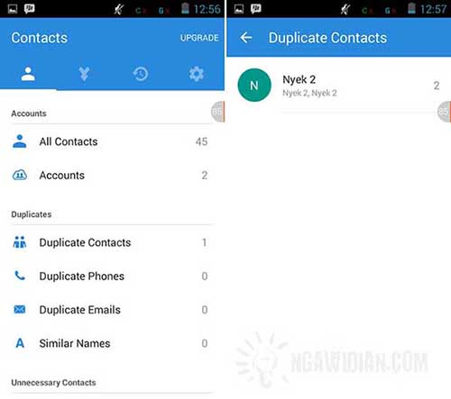 Cara Menghapus Kontak Sama di Android