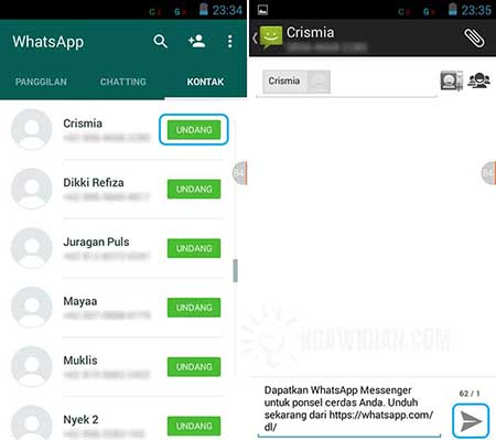Cara Mengundang Teman di WhatsApp Android