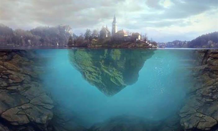 Membuat Efek Pulau Mengambang di Air 18