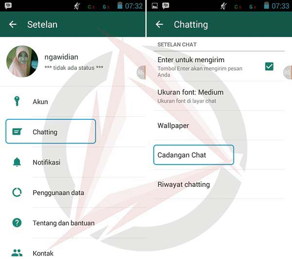 Simpan Chat WhatsApp