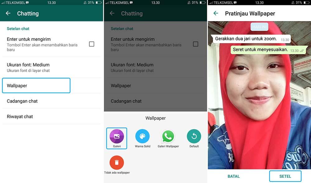 Ganti Background Chat di WhatsApp