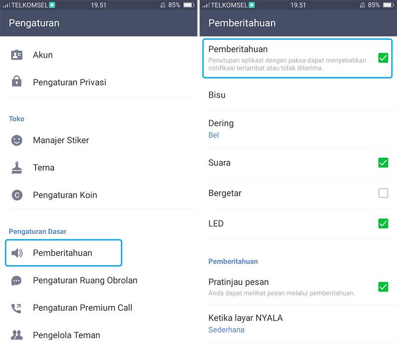 Aktifkan Pemberitahuan Pada Aplikasi