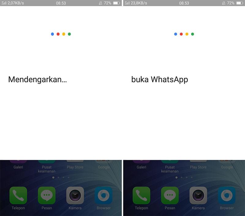 Buka WhatsApp Dengan Ok Google