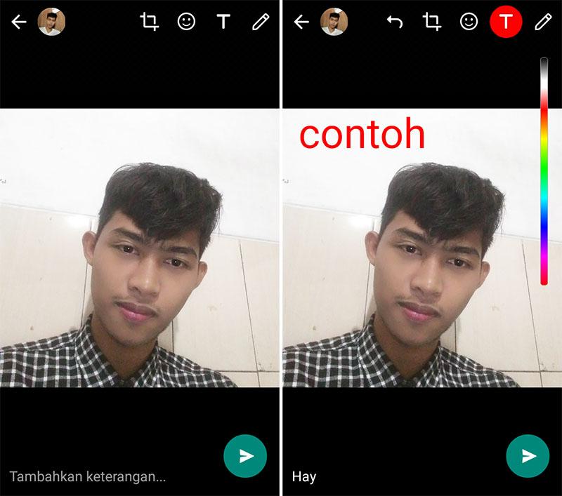 Tambahkan Foto dan Text 2