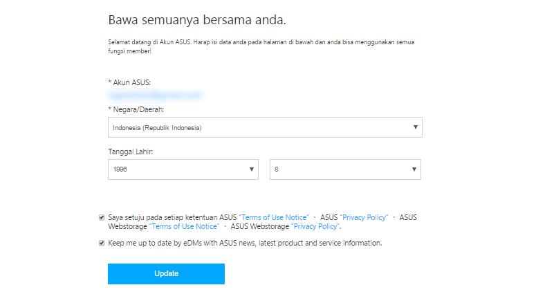 Konfirmasi Akun ASUS ZenTalk Indonesia