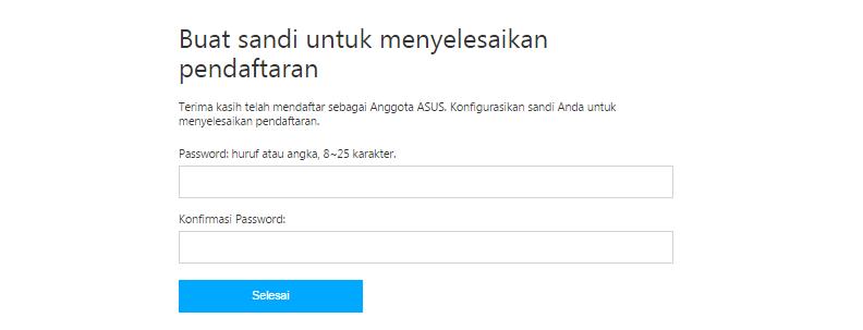 Buat Password ASUS ZenTalk Indonesia