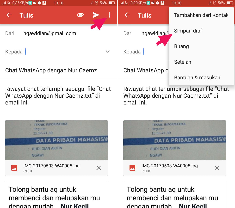 Simpan Chat WhatsApp ke Email Format TXT 3