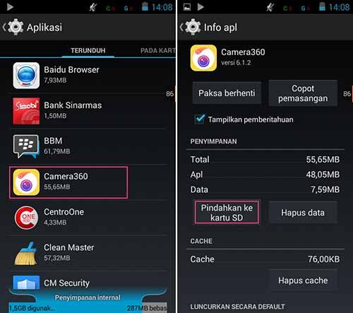 Cara Memindahkan Aplikasi Android Ke Memori Card