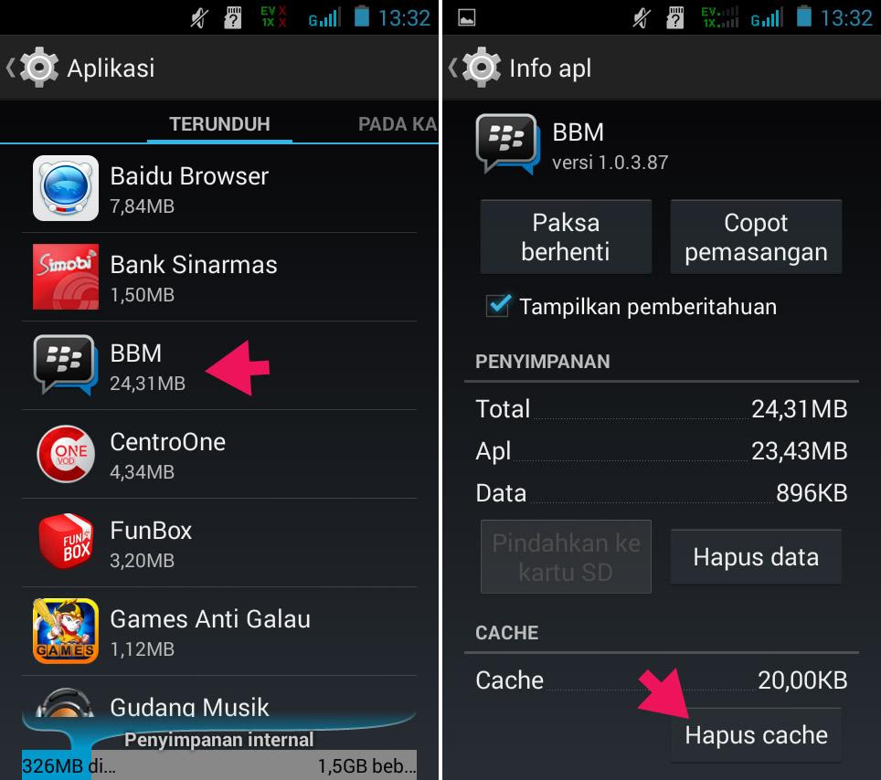 Hapus Cache Aplikasi di Smartfren Andromax G2 AD681H