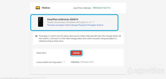 Cara Menghapus Akun Gmail di Perangkat Android Lain