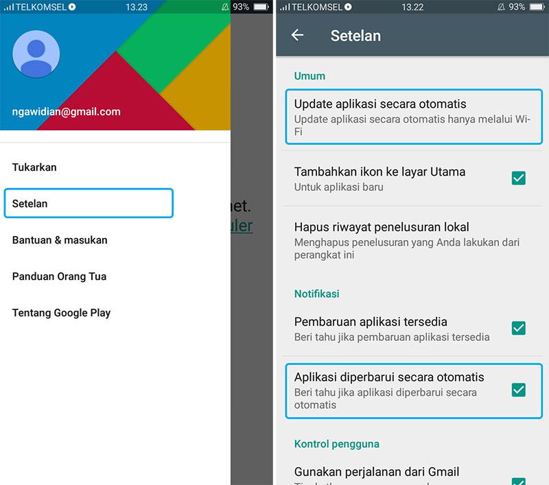 Matikan Fitur Update Otomatis Google Play