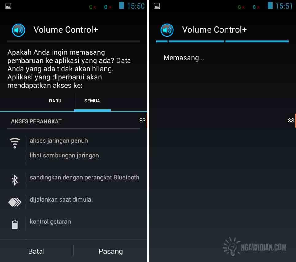Mengatur Suara Android Dengan Volume Control+ 1