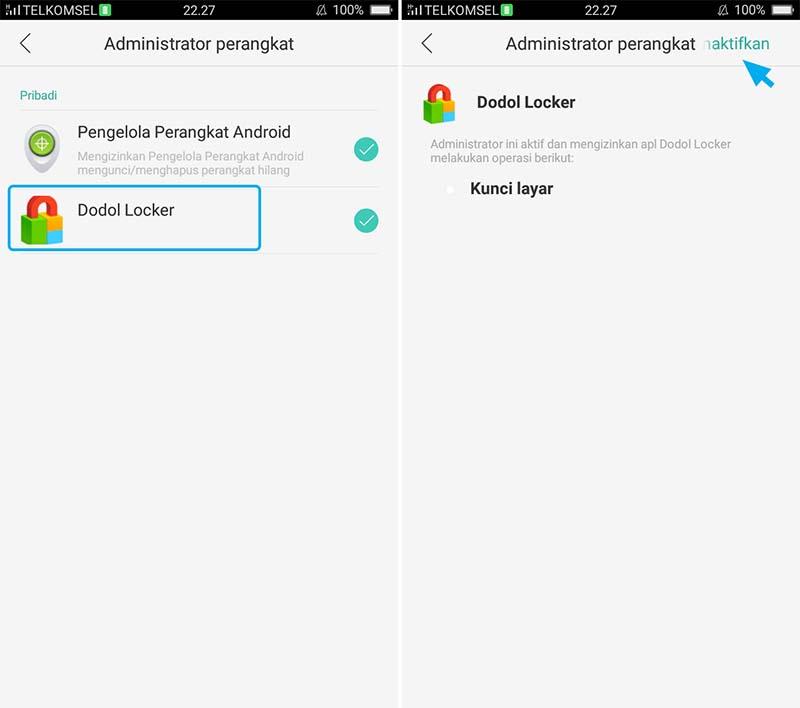 Nonaktifkan Aplikasi Pada Device Administrator