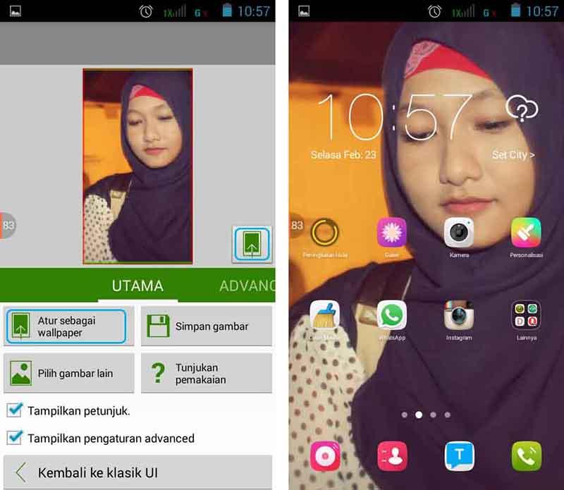 Ganti Wallpaper Android