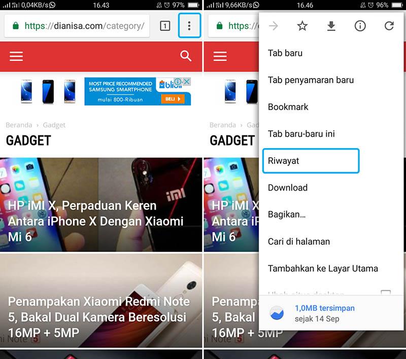 Hapus Riwayat Pencarian Google Chrome