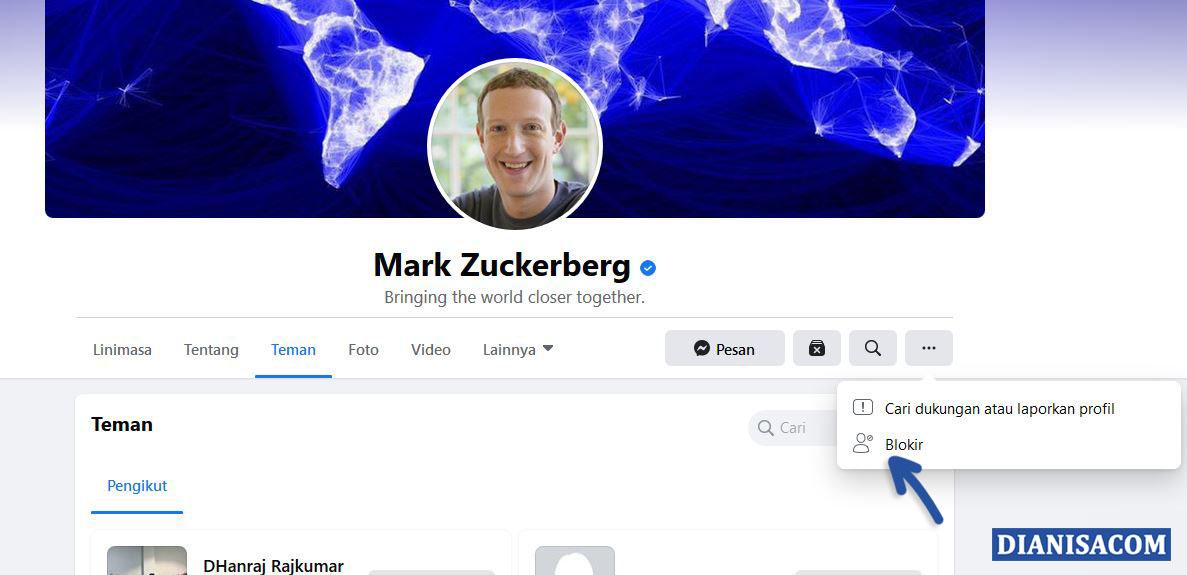 1 Blokir Pengguna Facebook