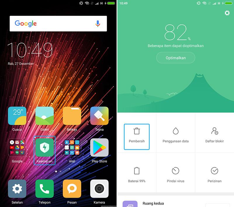 Aplikasi Keamanan Xiaomi