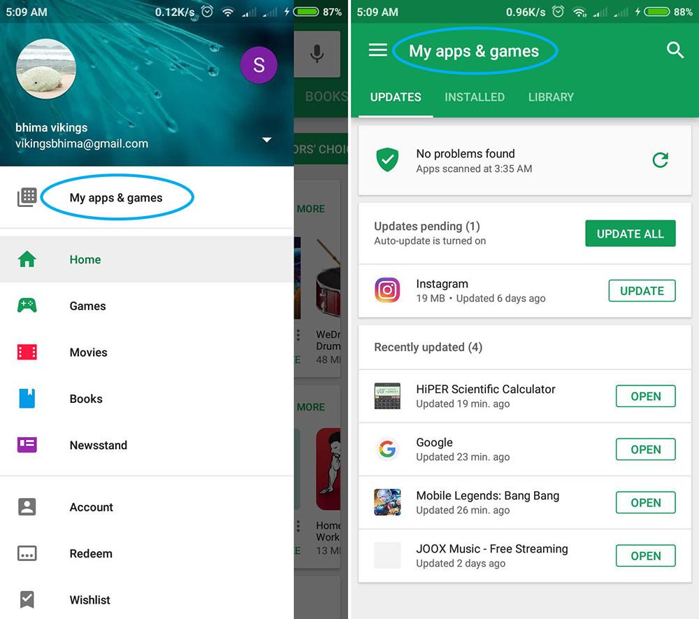 Cek Daftar Aplikasi