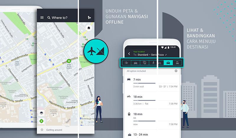 HERE Maps Navigasi offline