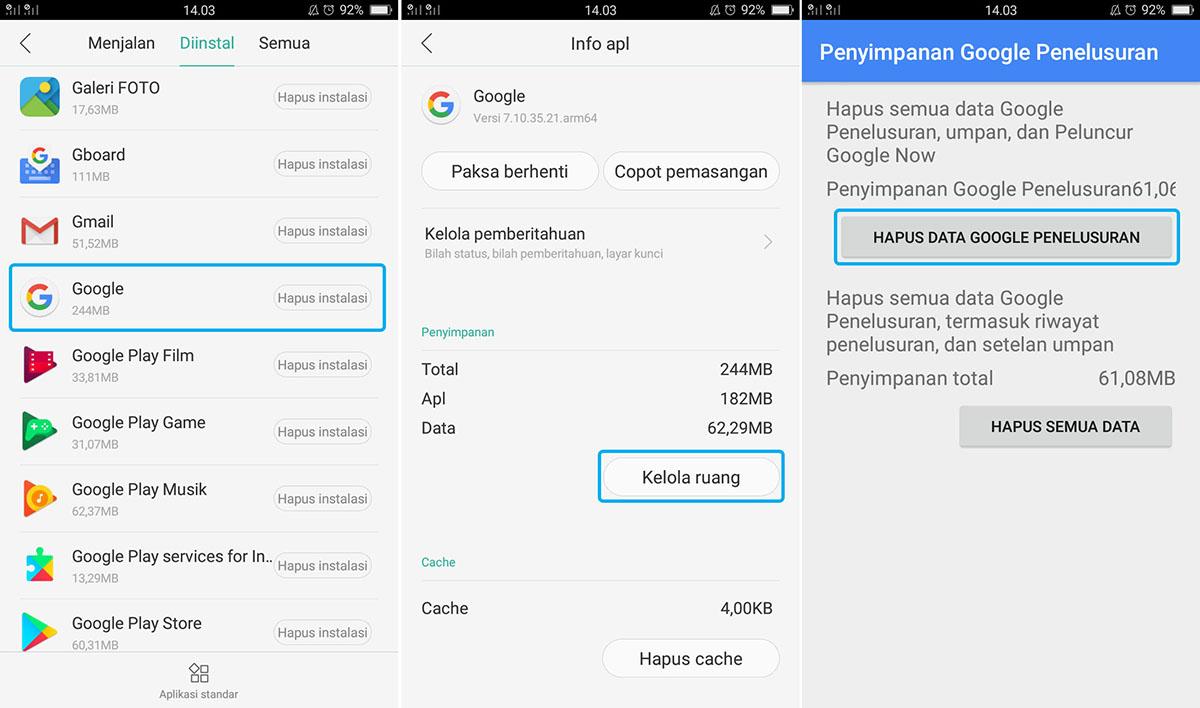 Hapus Data Google Penelusuran
