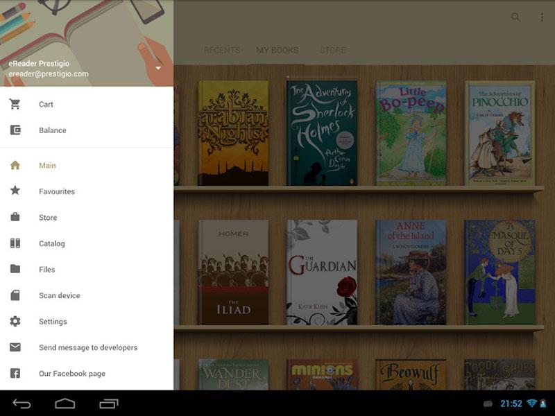 eReader Prestigio - Book Reader