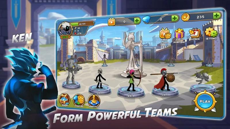 Stickman Legend - Ninja Warriors Kingdom War