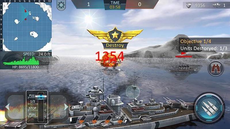 Kapal perang menyerang 3D - Warship Attack