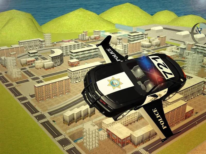 Mobil terbang 3d Polisi
