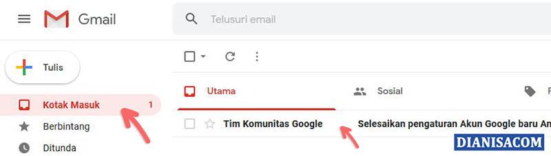 1. Membuka Email Masuk