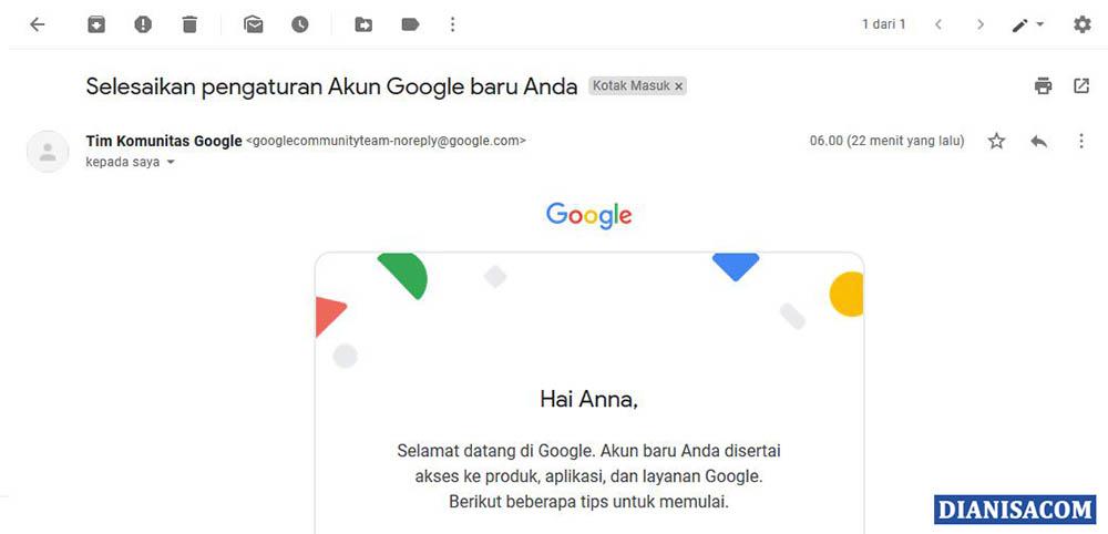 2. Melihat Email Masuk Gmail