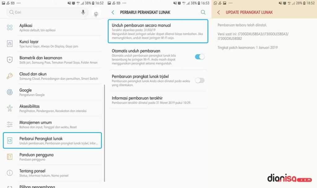 Update Perangkat Lunak SAMSUNG