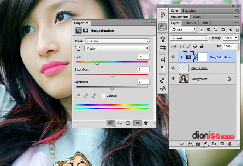Membuat Bibir Merah Photoshop 4