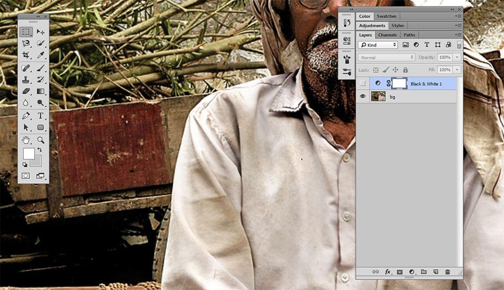 Membuat Gambar Hitam Putih Photoshop 1