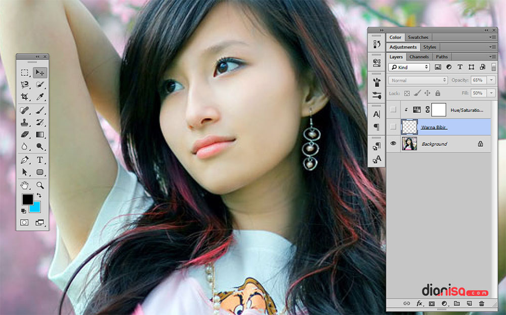 Menjadikan Bibir Merah Photoshop 1
