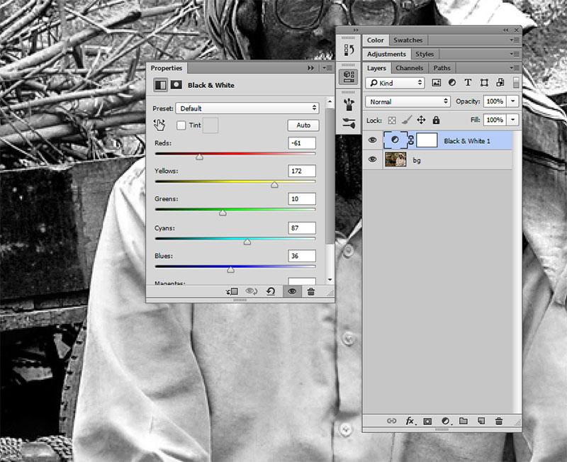 Merubah Foto Hitam Putih Photoshop 2