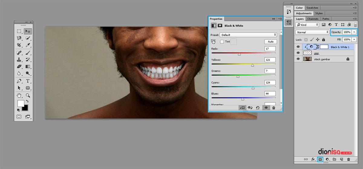 Trik Putihkan Gigi Photoshop 3