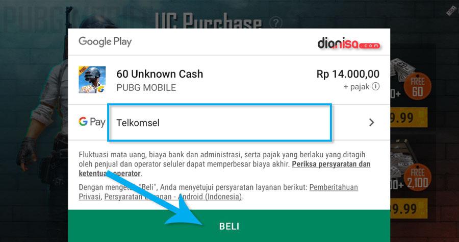 Top Up PUBG Mobile via Google Play