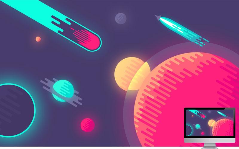 #11 Wallpaper Minimalis Planets