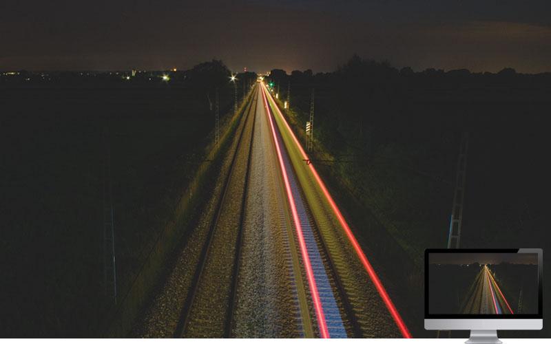 #17. Railway Light Long Exposure Wallpaper