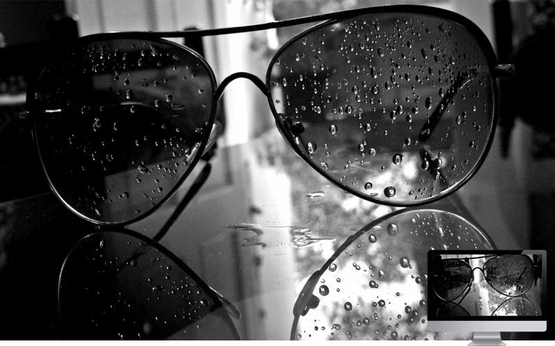 #28. Sunglasses Drops Dark Wallpaper