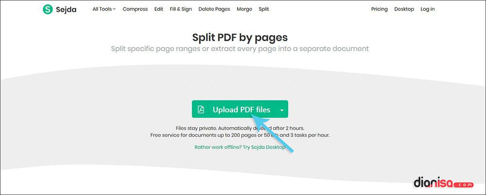 Memisah File PDF per Halaman dengan tool Sedja