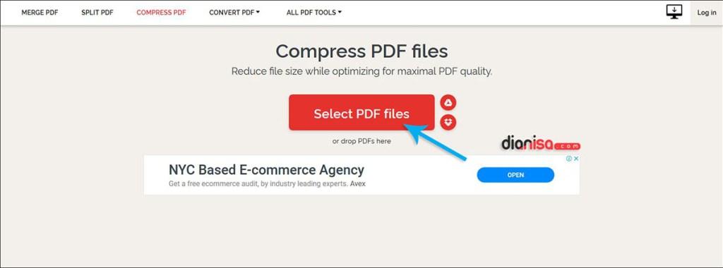 Mengurangi Ukuran PDF dengan ILovePDF.com