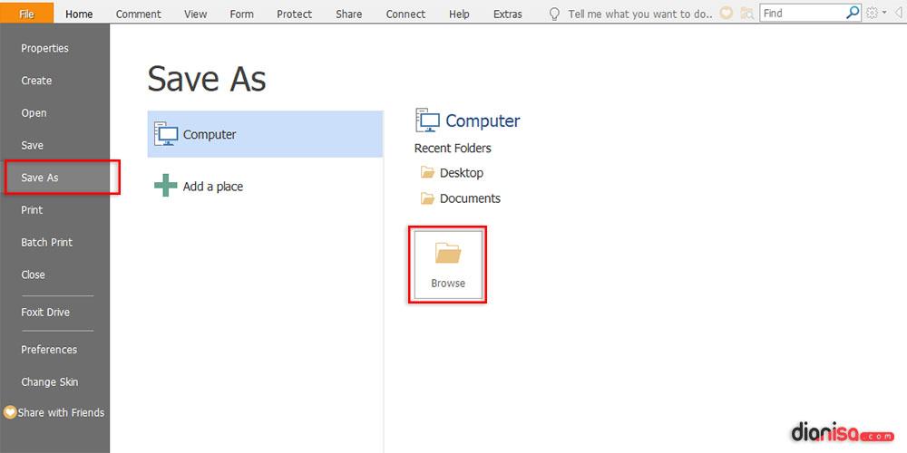 Simpan File Word ke PDF Foxit Reader