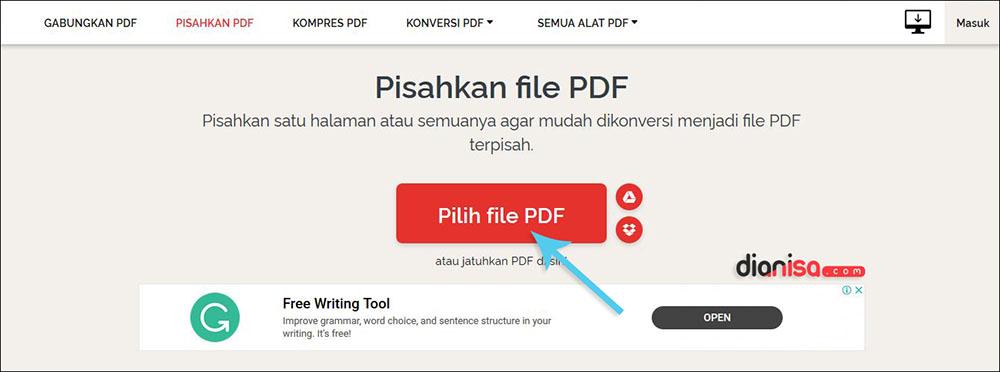 Split File PDF dengan iLovePDF