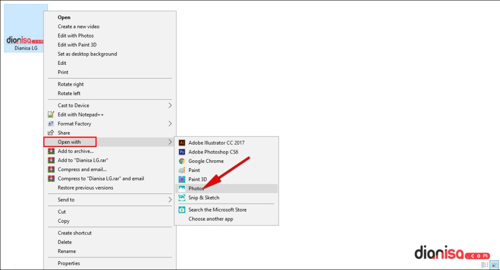Mengubah file PNG ke PDF dengan Photos